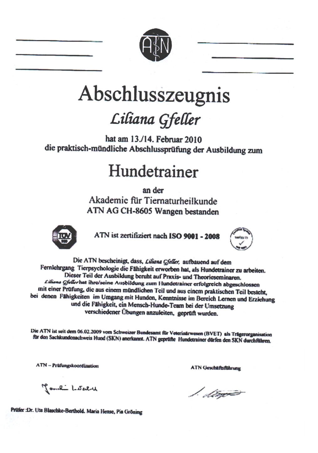 Liliana Gfeller – Muffy\'s DogPlace
